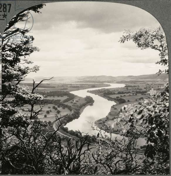 Overlooking the Beautiful Valley of the Tay, Scotland, UK, Single Image of Stereo Card, circa 1900