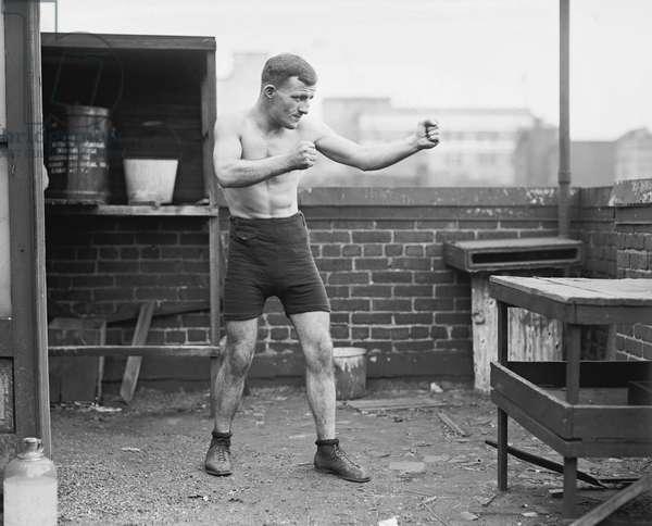 Military Boxer at Barracks, Portrait, Washington DC, USA, 1924 (b/w photo)