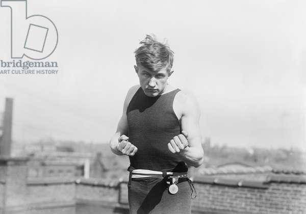 American Lightweight Boxer, James Jarvis, Portrait, Bain News Service, circa 1911