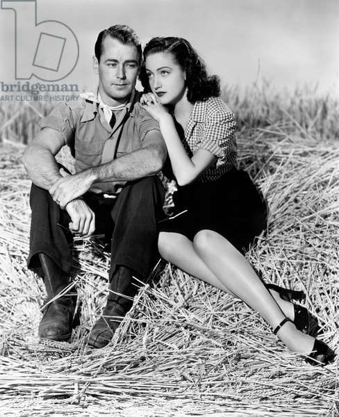 Alan Ladd, Dorothy Lamour, on-set of the Film