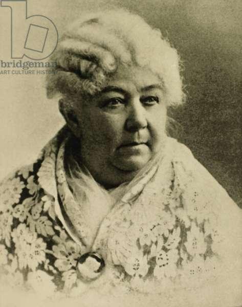 Elizabeth Cady Stanton (1815-1902), Leader of Women's Suffrage Movement, Portrait, Circa 1900