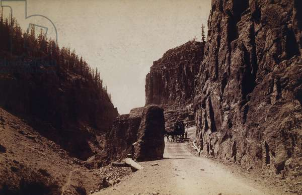 East Entrance to Golden Gate Canyon, Yellowstone Park, Wyoming, USA, c.1900