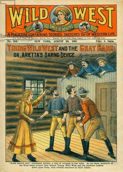 Cover of Wild West Weekly Magazine, No. 254, August 30, 1907
