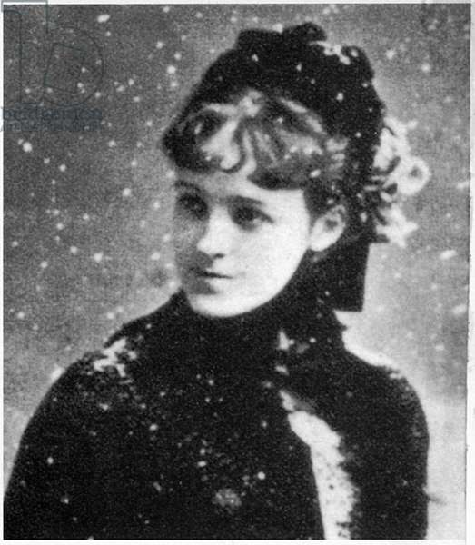 Edith Wharton (1862-1937), American Novelist and Short Story Writer, Portrait in Snow
