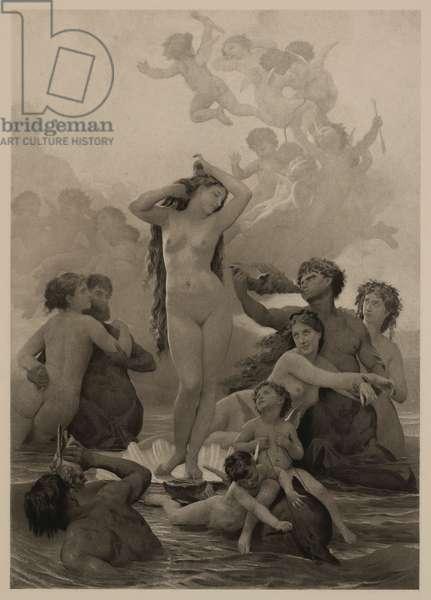 The Birth of Venus, The Masterpieces of French Art by Louis Viardot, Published by Gravure Goupil et Cie, Paris, 1882, Gebbie & Co., Philadelphia, 1883 (photogravure print)