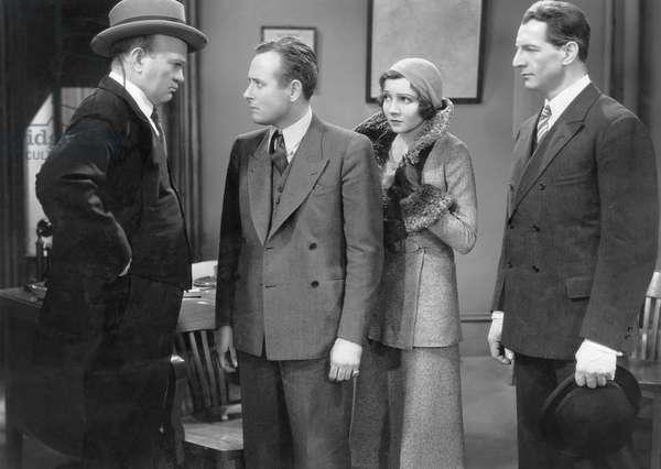 "Monroe Owsley, Claudette Colbert, Robert Barrat, on-set of the Film, ""Honor Among Lovers"", 1931"