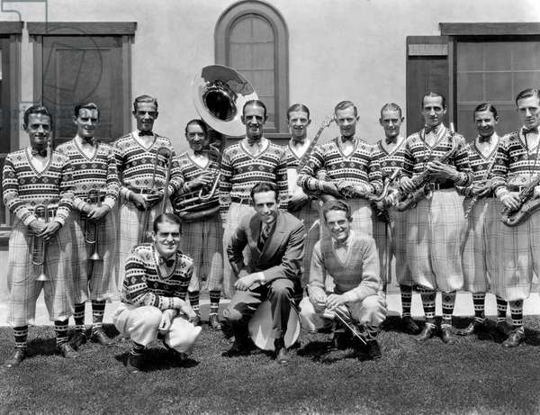 Harold Lloyd, (center), with Fred Waring's Pennsylvanians, Portrait, circa 1920's