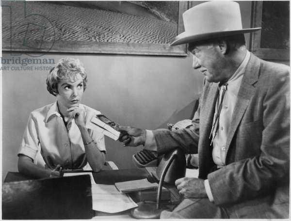 Janet Leigh, Frank Albertson, on-set of the Film,