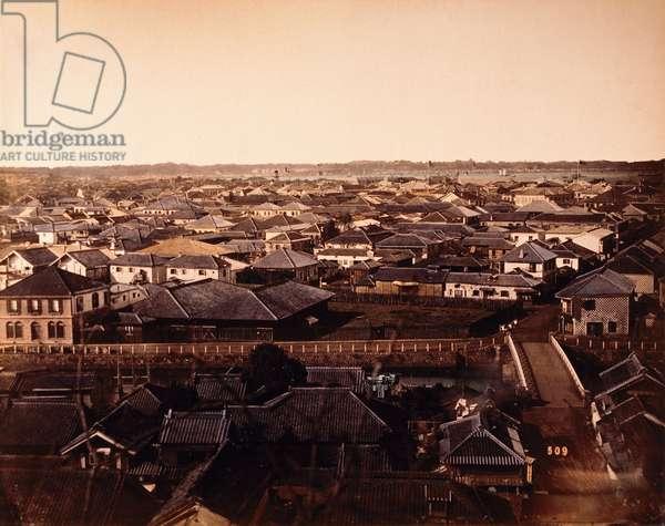 Urban cityscape, Yokohama, Japan, c.1870 (photo)