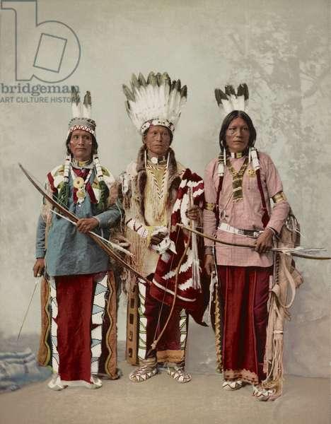 Three Apache Men, Chief James A. Garfield, Pouche Te Foya, and Sanches, Full-Length Portrait, Detroit Photographic Company, 1899 (photo)