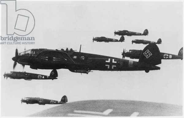"German WWII Fighter Airplanes in Flight from the Documentary Television Film, ""The Battle of Britain"", 1964"