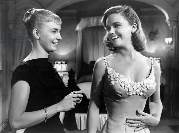 """Joanne Woodward, Lee Remick, on-set of the Film, """"The Long, Hot Summer"""", 20th Century Fox Film Corp., 1958"""