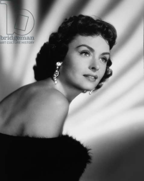 Actress Donna Reed, Publicity Portrait, 1955 (b/w photo)
