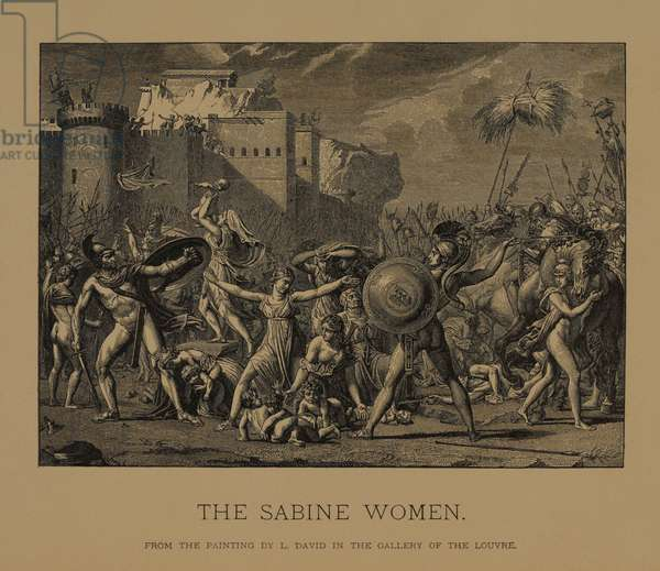 The Sabine Women, from The Masterpieces of French Art by Louis Viardot, Published by Gravure Goupil et Cie, Paris, 1882, Gebbie & Co., Philadelphia, 1883 (woodcut engraving)