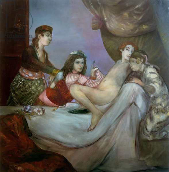 The Young Casanova (oil on canvas)