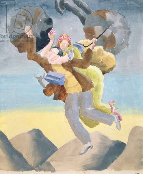 Study for Allegory, 1934 (gouache on paper)