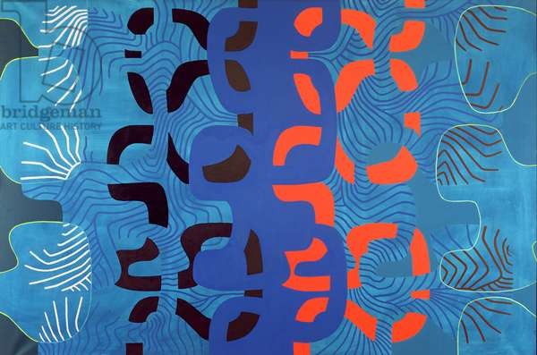Red and Blue Streams, c.1965 (oil on canvas)