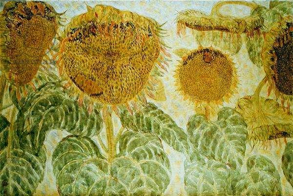 Sunflowers, 1989 (w/c on paper)