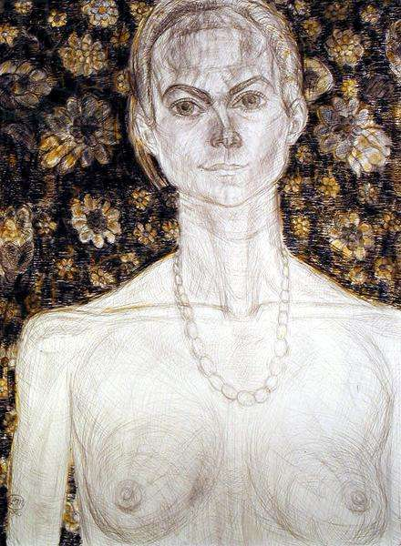 Portrait of Margaret, 1990 (pencil and pastel on paper)
