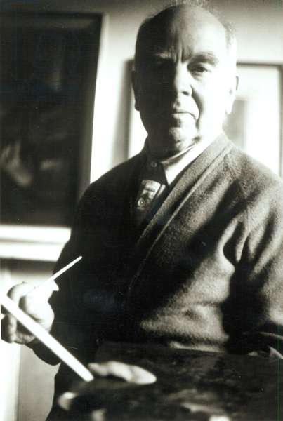 Portrait of William Patrick Roberts (1895-80) (b/w photo)