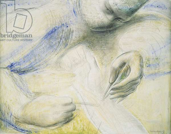 The Hands and the Arm, 1948 (oil & pencil on paper)