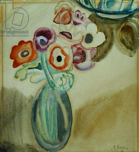 Jug of Flowers (w/c on paper)