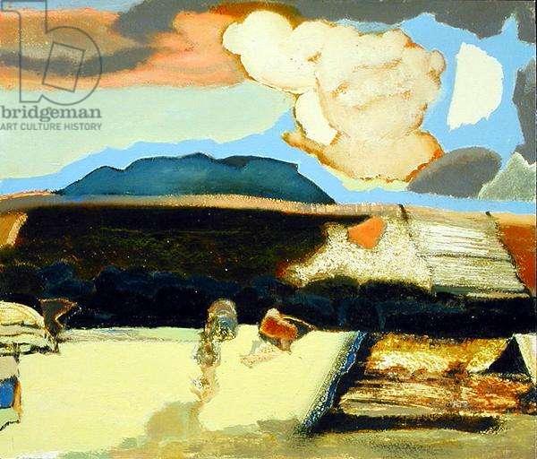 Yorkshire Landscape (oil on board)