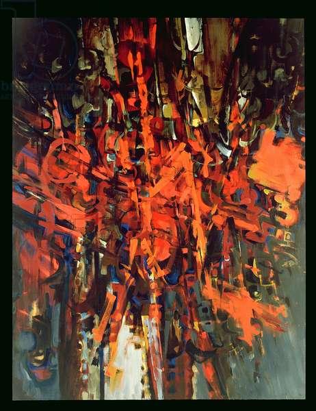 Firestreak II, 1960 (oil on canvas)