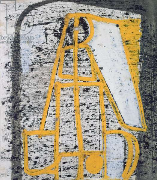Untitled (Yellow Construction) c.1950 (mixed media on paper)