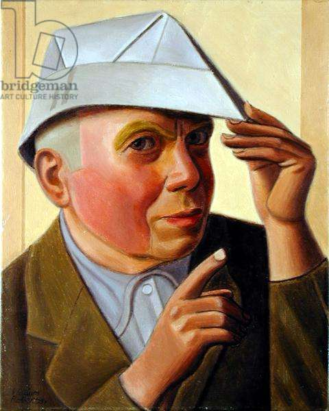 The Artist in a Paper hat (oil on canvas)