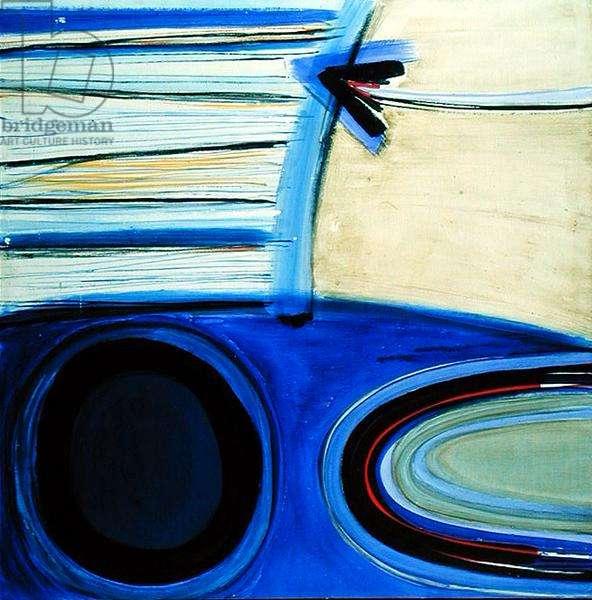 Blue, Black Arrow (oil on canvas)