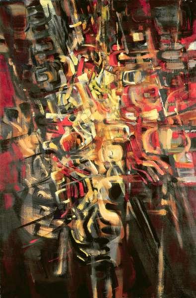 Tumult (oil on canvas)