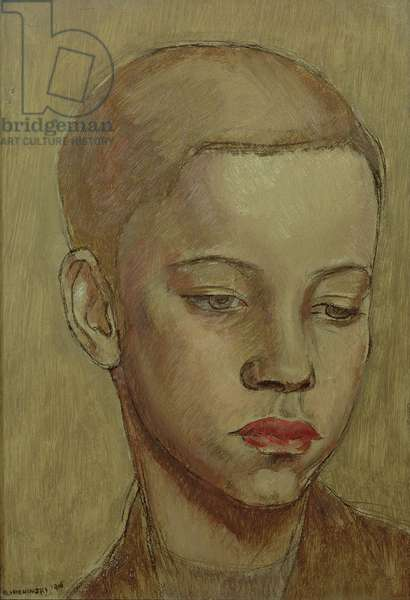 Head of a Boy, 1916 (oil and pastel on canvas)