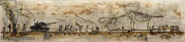 Exile Notes IV (proof), 2004 (etching & mixed media on hahnemuhle)