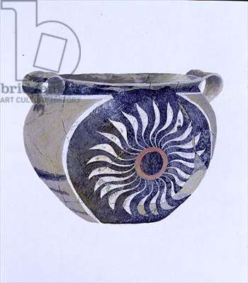 Cup from the Palace at Phaestos, 2000-1700 BC (pastel on paper)