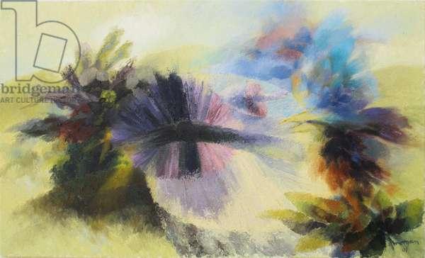 Hawk and Fungi, 2001 (oil on canvas)