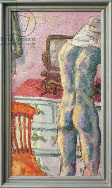Boy Dressing, 1949 (oil on canvas)
