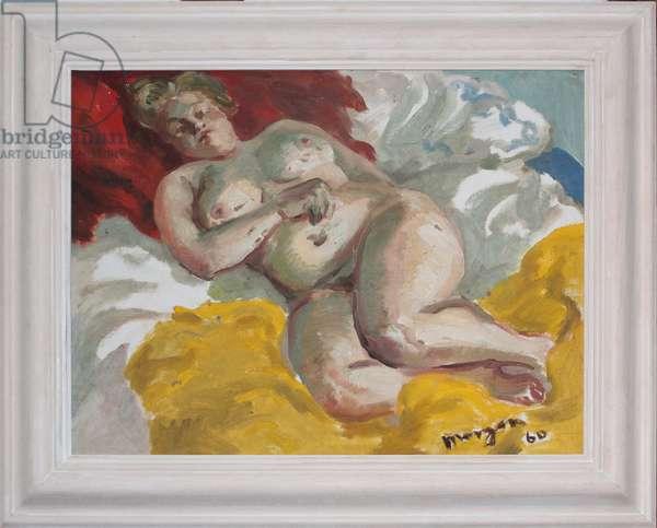 Reclining Female Nude, 1960 (oil on board)