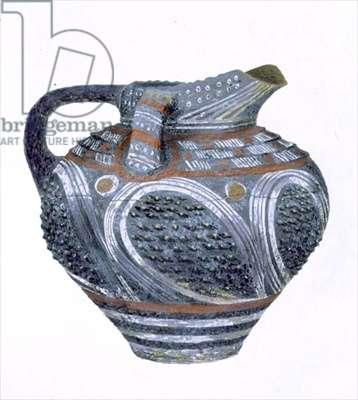Jug from Phaestos, 2000-1700 BC (pastel on paper)