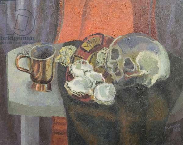Still Life with a Skull, 1962 (oil on canvas)