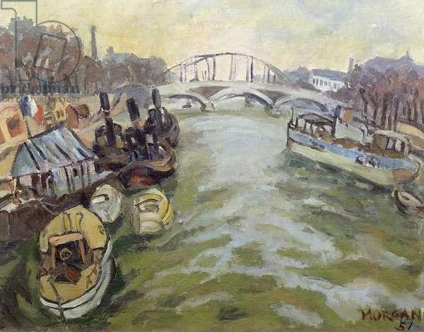 The Seine at Paris, 1951 (oil on canvas)
