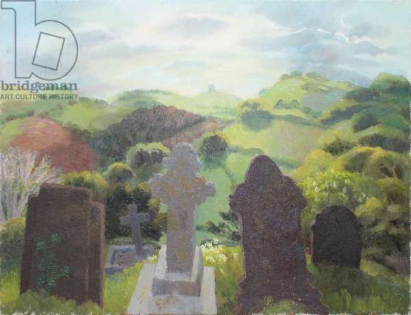 Landscape Viewed from a Cemetery, 2004 (oil on canvas)