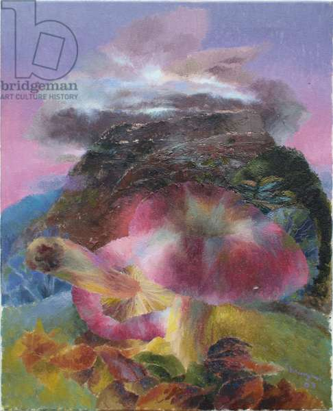 Landscape with Fungi, 2003 (oil on canvas)