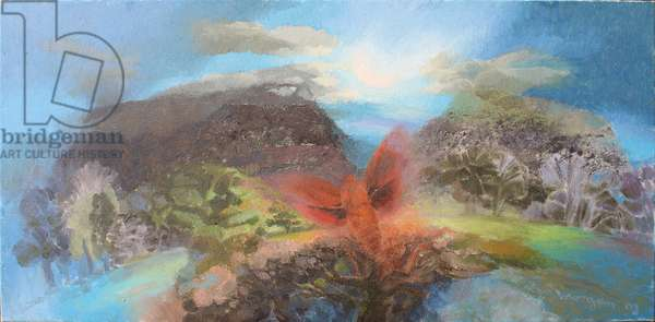 Landscape and Moth, 2003 (oil on canvas)