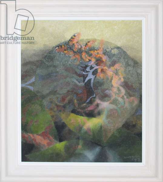 Swallowtail Butterfly in a Landscape, 1977 (oil on canvas)