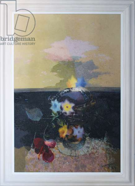 Greek Theme - Still Life in a Landscape, 1969 (oil on canvas)
