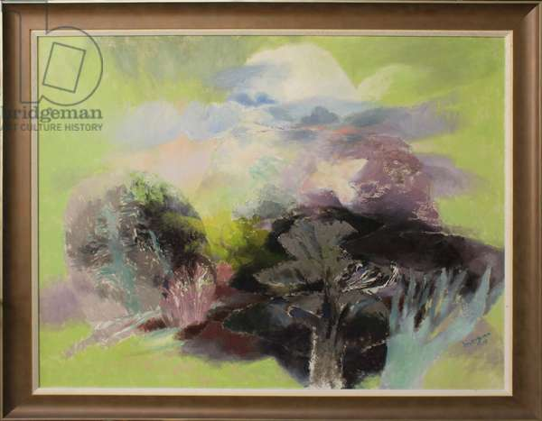 Landscape with White Bird, 2012 (oil on canvas)