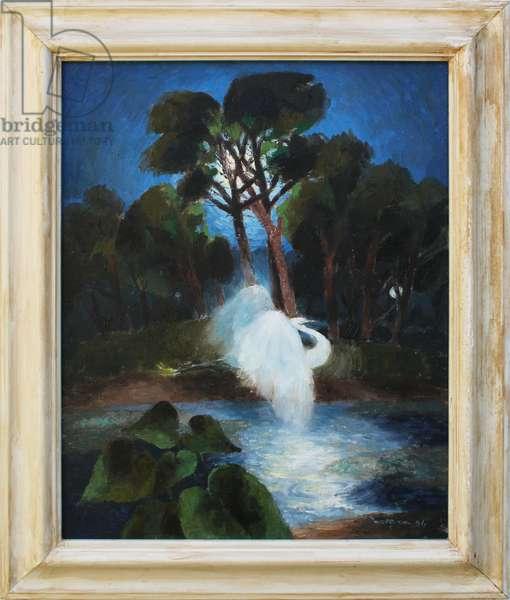 Egret et Les Viviers, 2006 (oil on canvas)