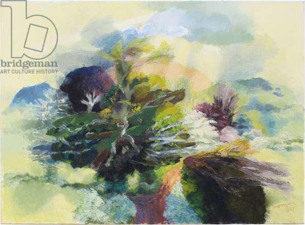 Mystical Landscape, 1992 (oil on canvas)