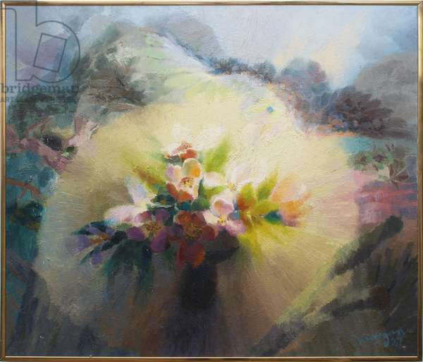 Mystical Flowers, 1987 (oil on canvas)